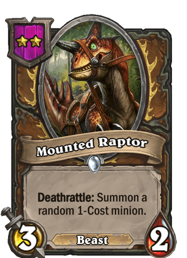 Mounted Raptor