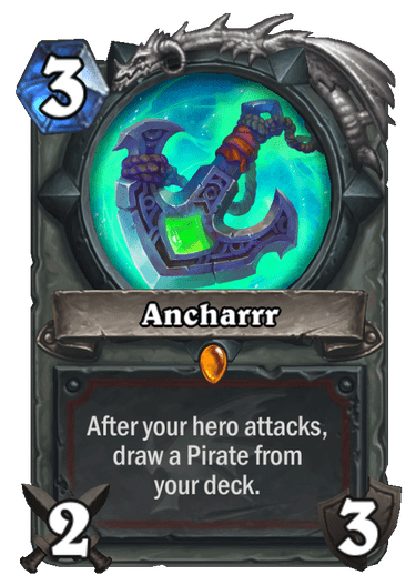 Legendary · Weapon · Descent of Dragons · After your hero attacks, draw a Pirate from yourdeck.