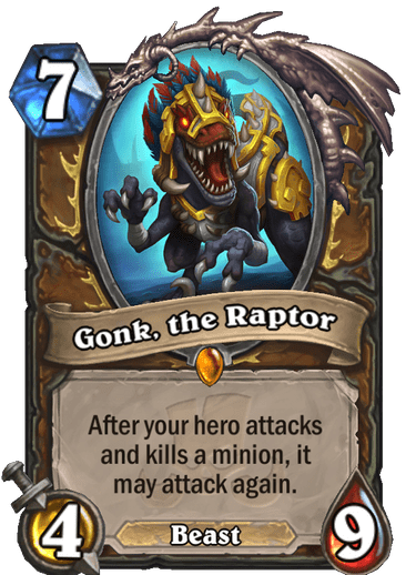 Gonk, the Raptor