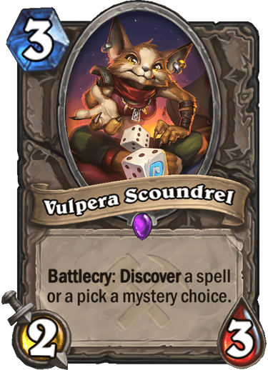 Epic · Minion · Saviors of Uldum · Battlecry: Discover a spell or a pick a mystery choice.