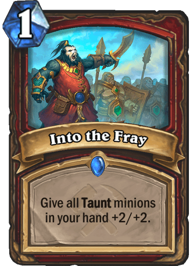 New Warrior Spell - Into the Fray - Multiplayer Discussion