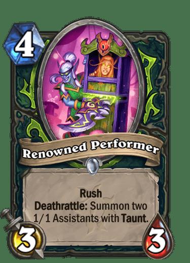 Renowned Performer