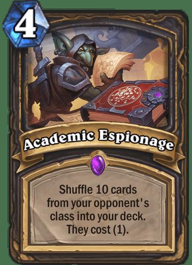 Academic Espionage - Hearthstone Card Library - Hearthstone