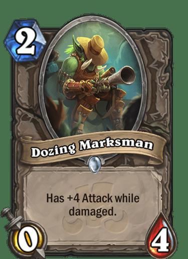 Dozing Marksman