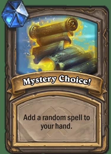 Mystery Choice!