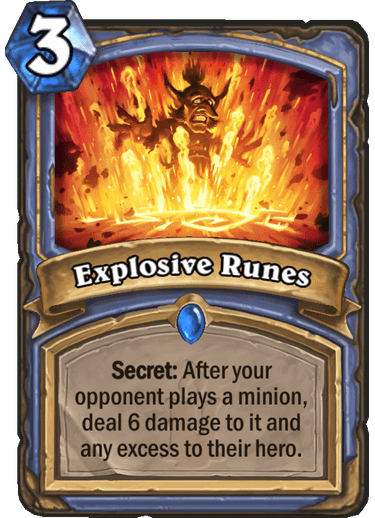 Explosive Runes Hearthstone Card Library Hearthstone