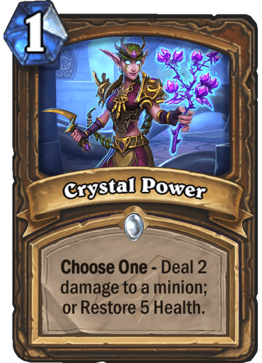 New Druid Spell - Crystal Power - Card Discussion - Hearthstone
